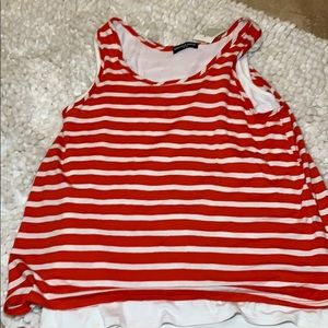 Red and White Stripe Tank